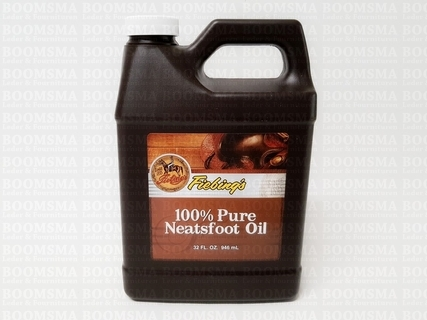 Fiebing 100% Pure Neatsfoot Oil GROOT = 946 ml  - afb. 1