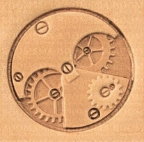2D & 3D stempels Steam Punk horloge radertjes