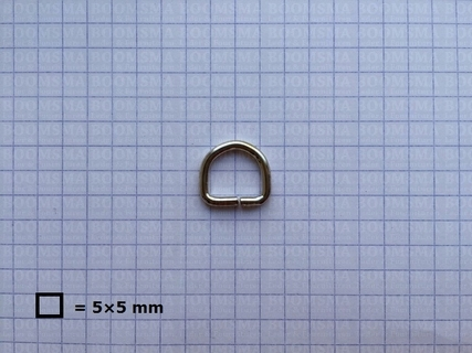 D-ring ongelast zilver 10 mm - afb. 2