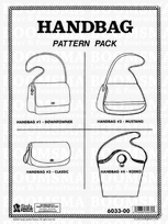 Handbag Pattern Pack 4 ontwerpen (The Classic, Downtowner, Mustang, and Rodeo) met gedetailleerde instructies