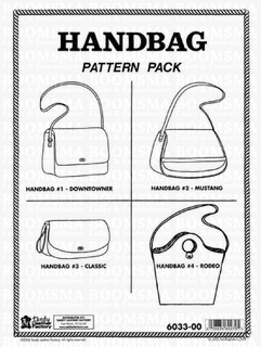 Handbag Pattern Pack 4 ontwerpen (The Classic, Downtowner, Mustang, and Rodeo) met gedetailleerde instructies - afb. 1