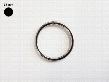 Ring rond gelast ofwel O-ring zilver 32 mm × Ø 3,5mm  - afb. 1