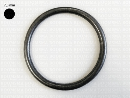 Ring rond (dicht) ofwel O-ring donkerbrons 80 mm × Ø 7 mm  - afb. 1