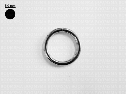 Ring rond gelast ofwel O-ring zilver 30 mm × Ø 5 mm  - afb. 1