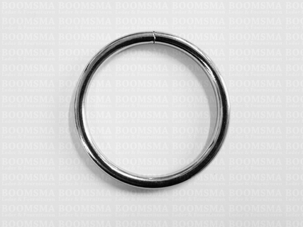 Ring rond gelast ofwel O-ring zilver - afb. 2