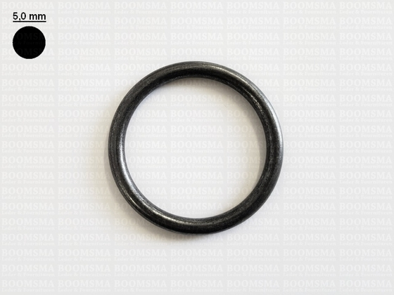 Ring rond (dicht) ofwel O-ring donkerbrons 50 mm × Ø 5 mm  - afb. 1