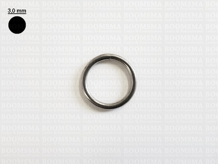 Ring rond RVS ofwel O-ring zilver 20 mm × Ø 3 mm  - afb. 1