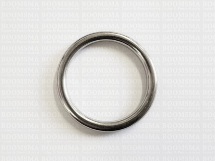 Ring rond RVS ofwel O-ring zilver - afb. 3