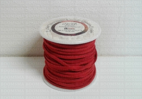 Vlechtband Suedine rood breedte 3 mm, 22.8 meter - afb. 1